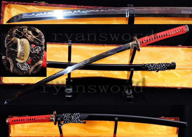 High Quality 1095 Carbon Steel Clay Tempered Japanese Maru Samurai Sword Katana