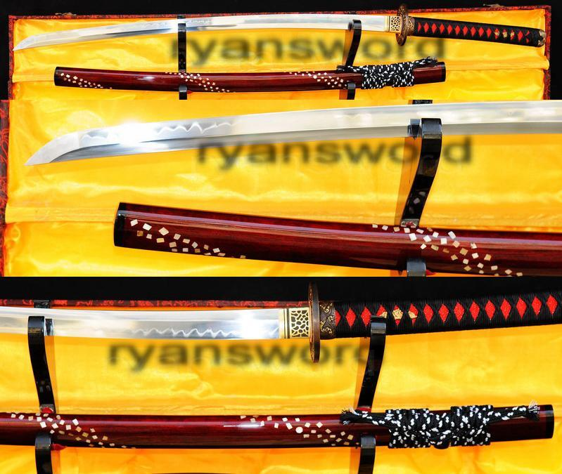 High Quality Clay Tempered 1095 Highcarbon Steel Japanese Samurai Sword Katana