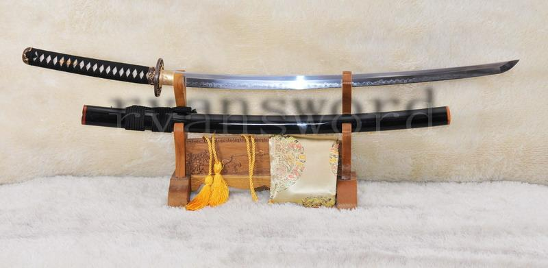 Handmade 1095 Folded Steel Clay Tepmered Samurai Sword
