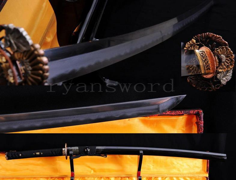 High Quality Handmade Shihozume Clay Tempered Abrasive Japanese Samurai Sword Katana