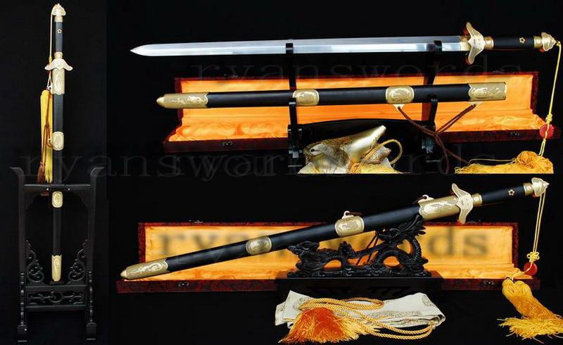 High Quality Folded Steel 1095 Carbon Steel Sanmai Chinese(Qing Feng)Sword