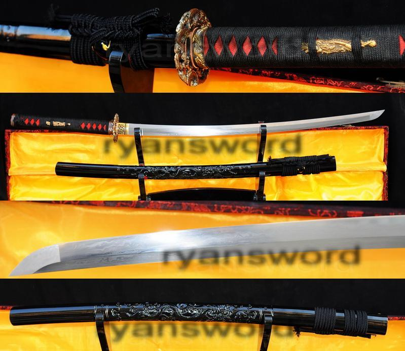 High Quality 1095carbon Steel Folded Steel Japanese Samurai Katana Sword