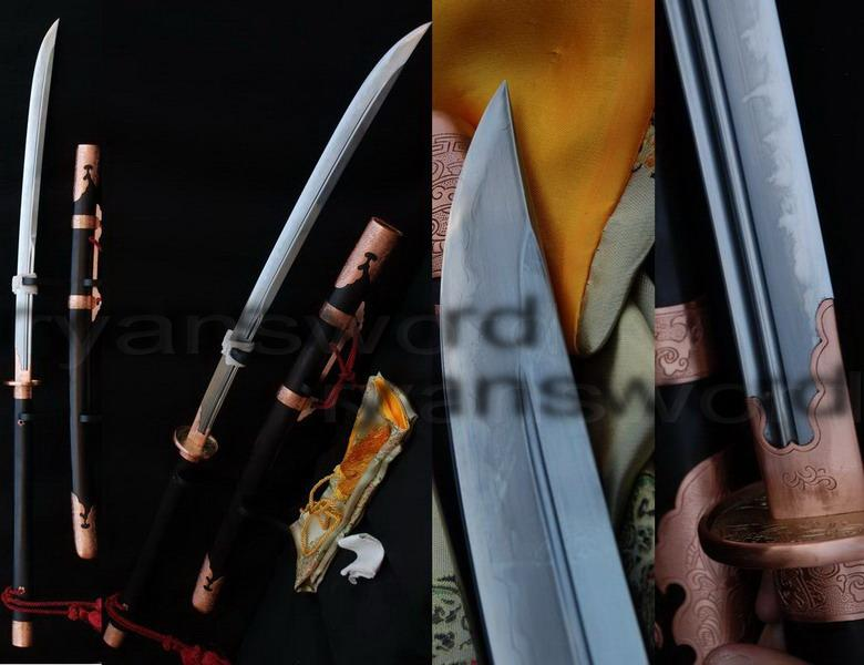 High Quality Clay Tempered+Abrasive 1095 Carbon Steel+Folded Steel+Iron Japanese Naginata Sword