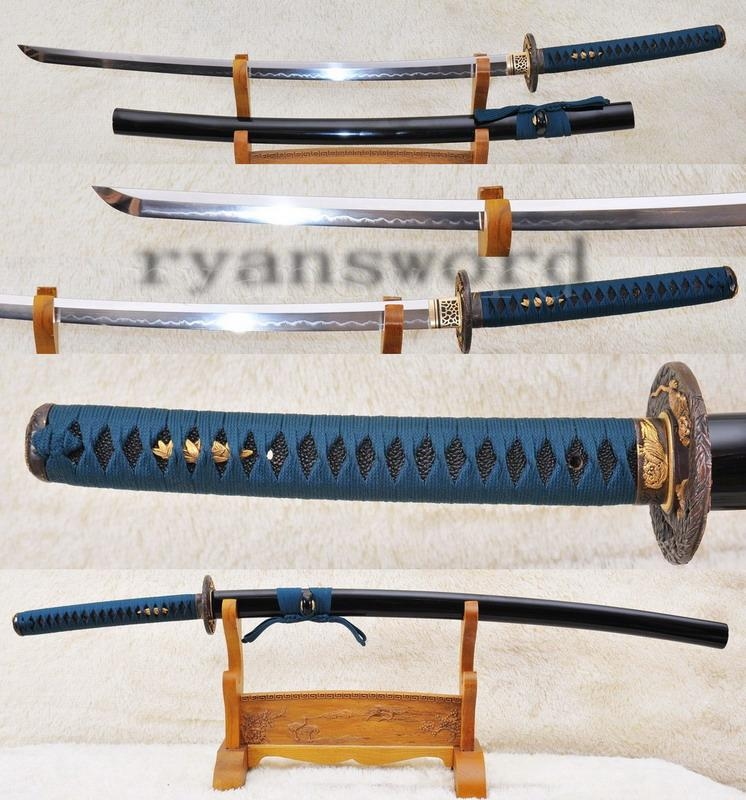 High Quality 1095 Carbon Steel Clay Tempered Japanese Sanmurai Katana Sword